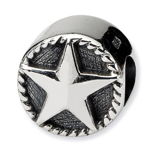 .925 Sterling Silver Star Bead