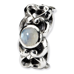 Sterling Silver CZ Connector Bead