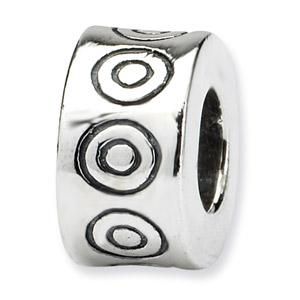 .925 Sterling Silver Circles Bali Bead