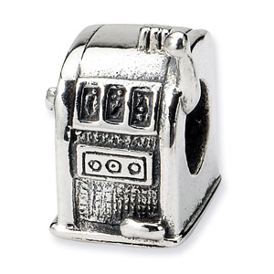 Sterling Silver Slot Machine Bead
