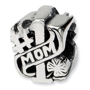 Sterling Silver #1 Mom Bead