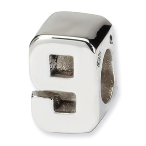 .925 Sterling Silver Numeral 9 Bead