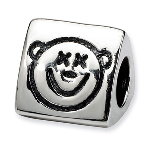 .925 Sterling Silver Wise Monkey Trilogy Bead