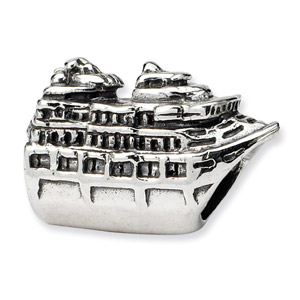 Sterling Silver Cruise Ship Bead