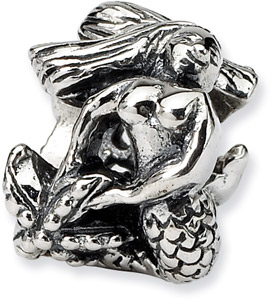 .925 Sterling Silver Mermaid Bead