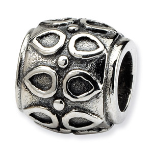.925 Sterling Silver Barrel Bead