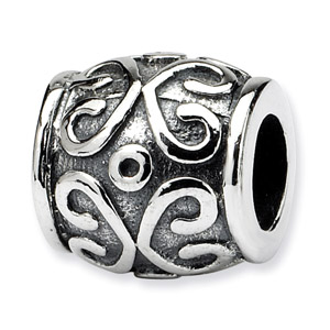Sterling Silver Scroll Bali Bead