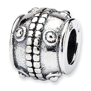.925 Sterling Silver Dots Bali Bead