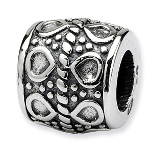Sterling Silver Dots Bali Bead
