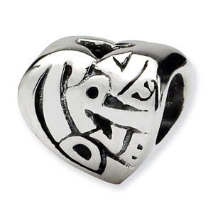 .925 Sterling Silver True Love Bead