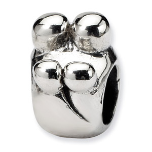 .925 Sterling Silver Family of 4 Bead