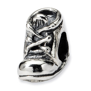 .925 Sterling Silver Baby Shoe Bead