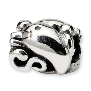 .925 Sterling Silver Dolphin Bead