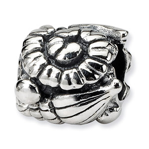 .925 Sterling Silver Shells Bead