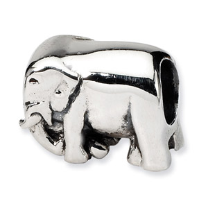 .925 Sterling Silver Elephant Bead
