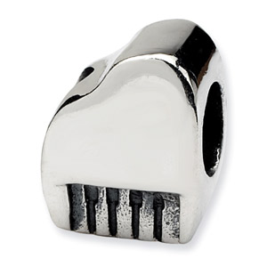 .925 Sterling Silver Piano Bead