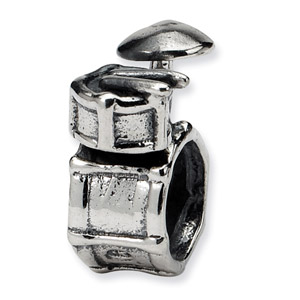 Sterling Silver Drum Set Bead