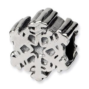 Sterling Silver Snowflake Bead