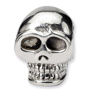 .925 Sterling Silver Skull Bead
