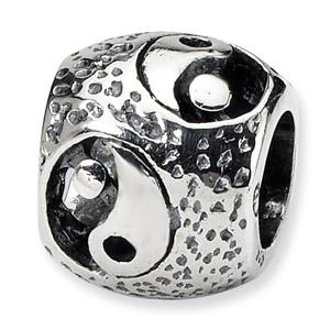 .925 Sterling Silver Yin Yang Bead