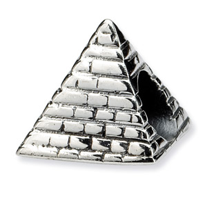 .925 Sterling Silver Pyramid Bead