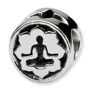 .925 Sterling Silver Yoga Lotus Bead
