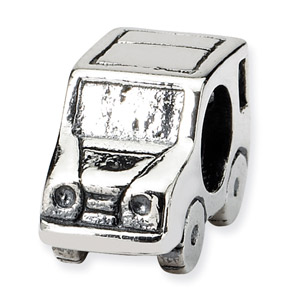 .925 Sterling Silver Car Bead