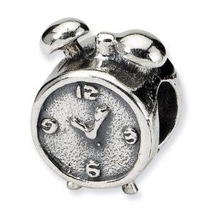 Sterling Silver Alarm Clock Bead