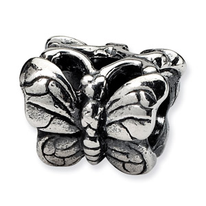 .925 Sterling Silver Butterfly Bead