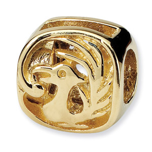 14K Gold Pheonix Bird Bead