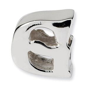.925 Sterling Silver Letter G Bead