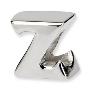 .925 Sterling Silver Letter Z Bead
