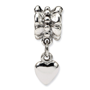 Sterling Silver Heart Dangle Bead