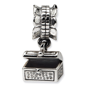 Sterling Silver Treasure Chest Dangle Bead