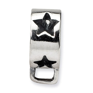 .925 Sterling Silver Star w/Loop for Click-on Bead
