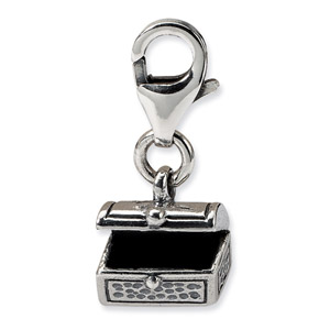 Sterling Silver Tresure Chest Click-on for Bead