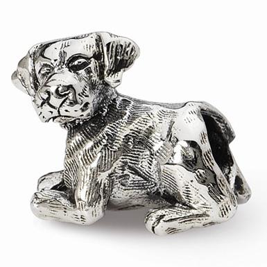 Labrador Retriever Bead in Sterling Silver