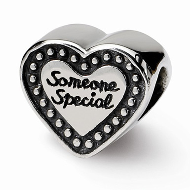 Someone Special Heart Bead in Sterling Silver
