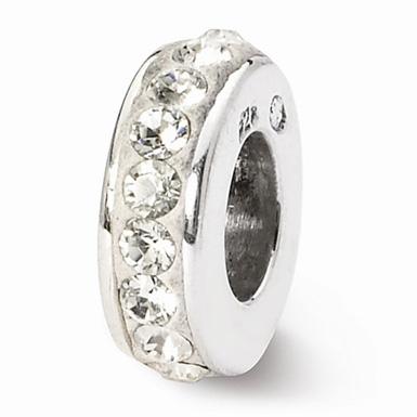 Swarovski April Birthstone Bead In Sterling Silver