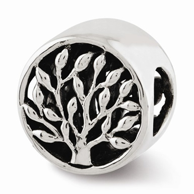 Tree of Life Bead in Sterling Silver