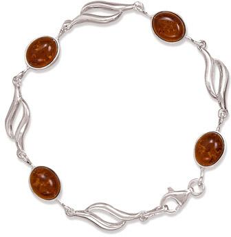 Sterling Silver & Amber Bracelet
