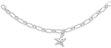 Sterling Silver Starfish Charm Bracelet