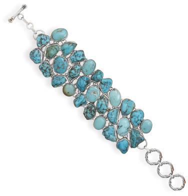 Turquoise Nugget Toggle Bracelet