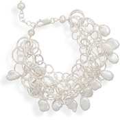 5 Strand Bracelet with Cultured Freshwater Pearls