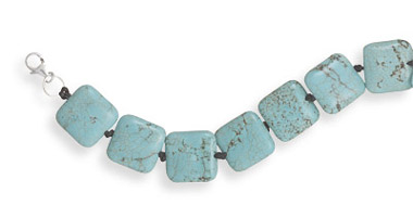 Square Turquoise Knotted Bracelet