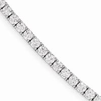 Cubiz Zirconia Tennis Bracelet in Sterling Silver