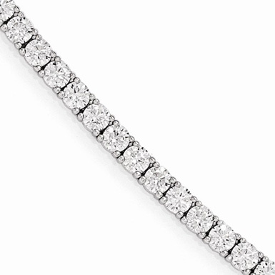 Sterling Silver Traditional CZ Tennis Bracelet
