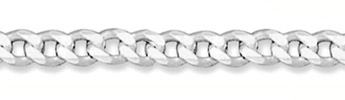 6mm Sterling Silver Curb Link Chain