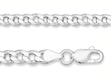 5.5mm Sterling Silver Curb Link Chain