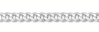 6.5mm Sterling Silver Curb Link Chain